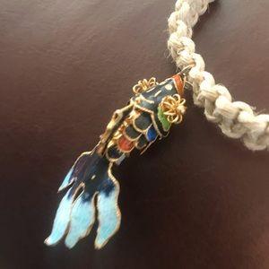 Jewelry - Hemp koi fish necklace
